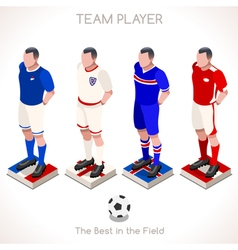Football 03 people isometric vector