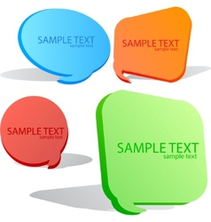 Colorful speech bubble set vector