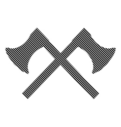 Crossed axes sign vector