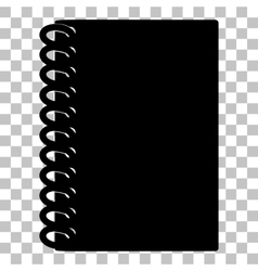 Notebook simple sign flat style black icon on vector