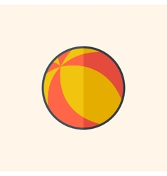 Ball Flat Icon vector image