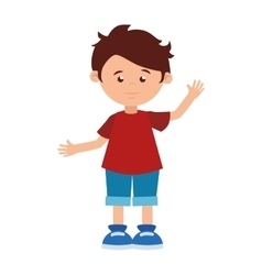 boy cartoon happy cute design vector image