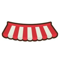 Cartoon store shopping online emblem vector