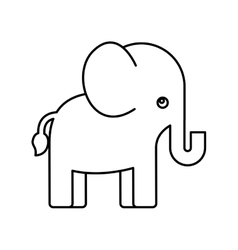cute elephant animal icon vector image