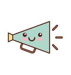 Director megaphone kawaii character vector