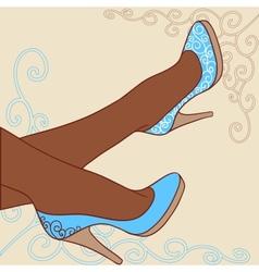 Fashion background with feminine shoe vector