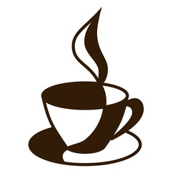 Graphic cup of coffee tea vector image