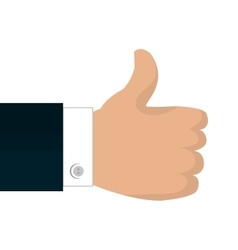 hand like icon thumb up isolated vector image