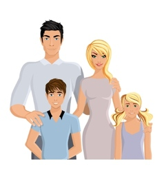 Happy family realistic vector image vector image