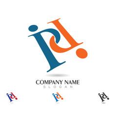 P letter logo business template vector
