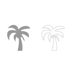 Palm the grey set icon vector