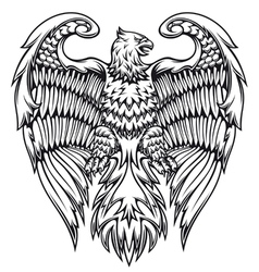 Powerful eagle or griffin vector image vector image