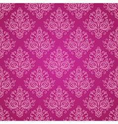Red vintage damask pattern vector image
