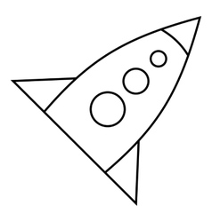 Rocket with three portholes icon outline style vector