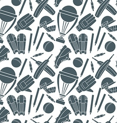 Seamless pattern with h cricket game elements vector