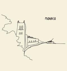 sketch streets monaco drawn vector image