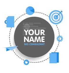 Social network seo optimization consultant avatar vector