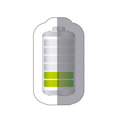 Sticker battery symbol with level reduced energy vector