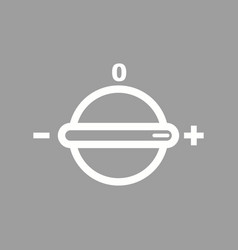 Temperature knob vector