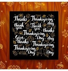 Thanksgiving Greeting Calligraphy vector image