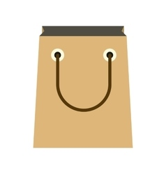Paper shopping bag icon flat style vector image