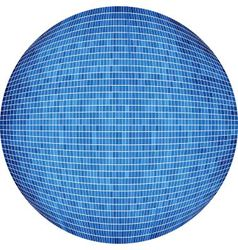 Blue ball in mosaic vector