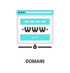 Domain icon concept vector