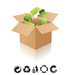 Recycling box vector image