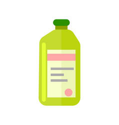 Plastic bottle with chemicals icon vector