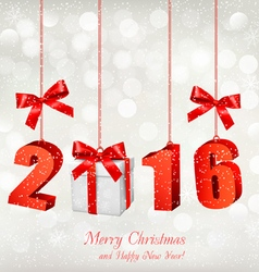 2016 New Years background with gift vector image vector image