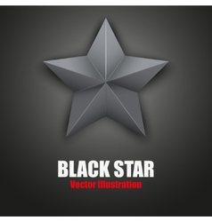 Background of black five-pointed star vector