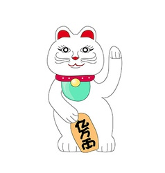 Traditional chinese cat of luck some believe it vector
