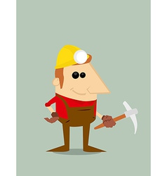 Cartoon miner vector