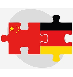 China and germany flags in puzzle vector