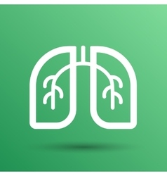 Lungs icon isolated on white background vector