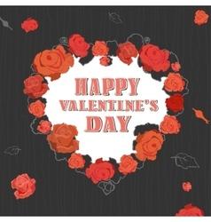 Roses Valentine Background vector image