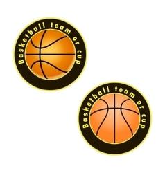 Logo for a basketball team vector