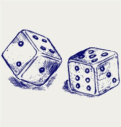 Two dices vector