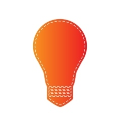 Light lamp sign orange applique isolated vector