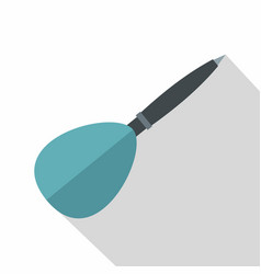 Blue dart arrow icon flat style vector