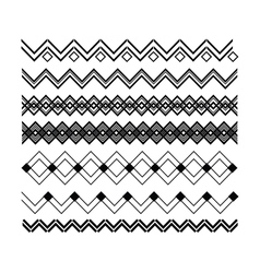 Borders and triangular lines for design horizontal vector