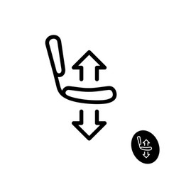 Chair seat with arrows up and down icon vector
