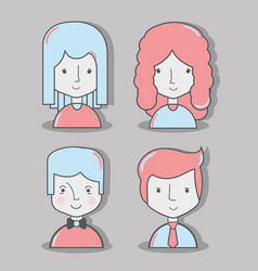 Color avatar icon diversity people vector