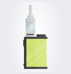 Colored flat vaping device part of big set vector