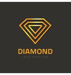 Diamond logotype golden jewel logo concept vector image vector image