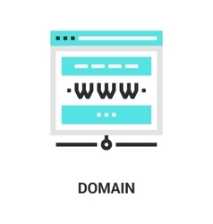 Domain icon concept vector