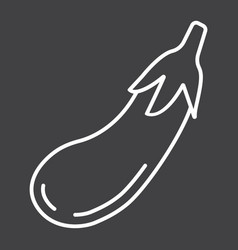 Eggplant line icon vegetable and diet vector