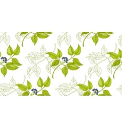 floral-berry pattern vector image