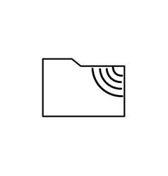 Ftp folder icon vector