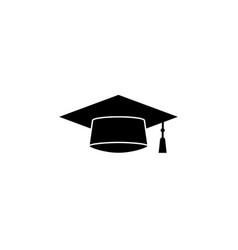 graduation cap solid icon education high school vector image vector image